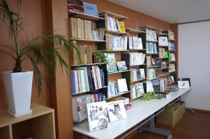 There is a library in the company
